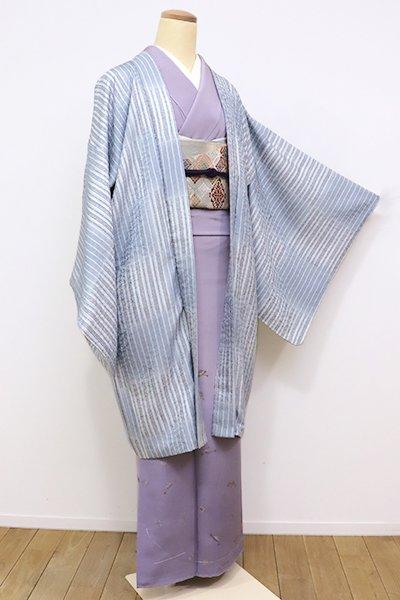 世田谷【E-972】 羽織 秘色色 市松に縞
