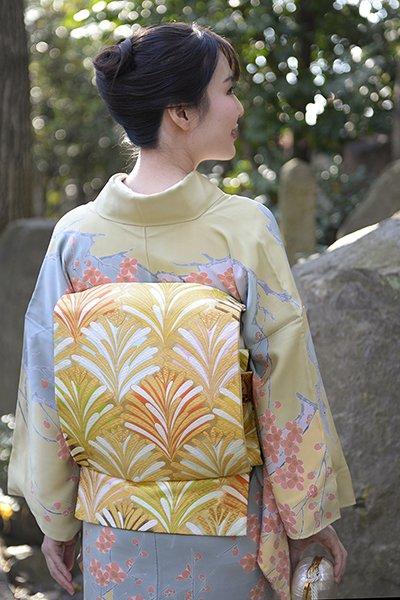銀座【帯2874】西陣 河合美術織物製 袋帯