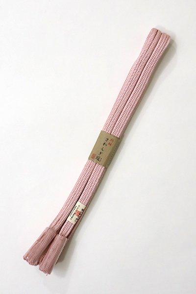 銀座【G-1085】京都 衿秀製 帯締め 冠組 撫子色(新品)