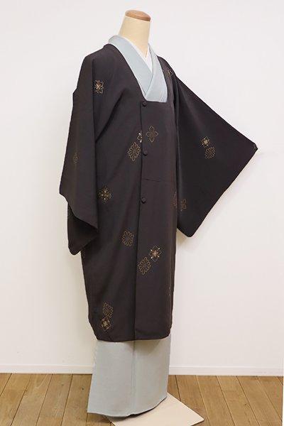 銀座【E-988】道行コート 消炭色 花菱(松坂屋扱い)
