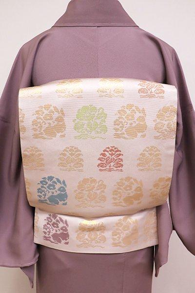 銀座【L-4202】袋帯 桜色 花兎文