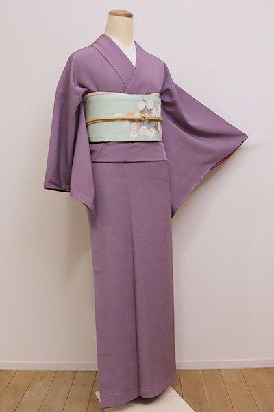 銀座【C-1512】繍一ッ紋 江戸小紋 桑の実色 鮫 (三越扱い)