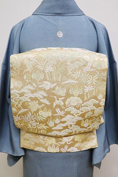 銀座【L-4210】袋帯 金色 松に宝尽くしなど