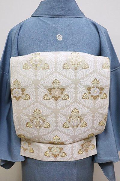 世田谷【L-4211】袋帯 練色 松の亀甲文