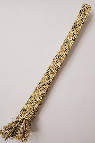 銀座【G-1109】道明 帯締め 高麗組 金色×薄茶系 (箱付)