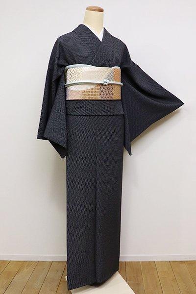 銀座【C-1516】(S・細め)江戸小紋 黒色 菊菱