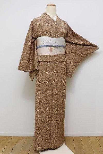 銀座【C-1529】↑Sサイズ↓←ユッタリ→江戸小紋 江戸茶色 梅鉢