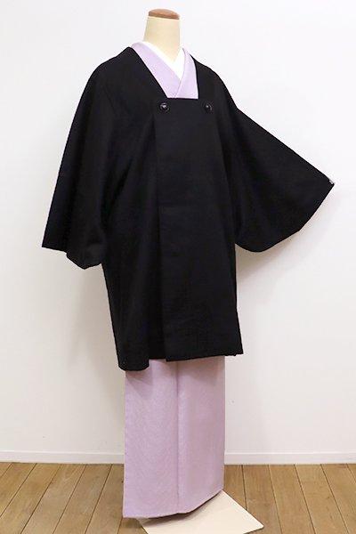 銀座【E-1002】カシミヤ 和装コート 黒色 無地