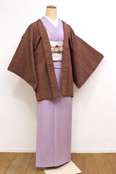 WEB限定【E-1007】ざざんざ織 羽織 檜皮色系(羽織紐付)