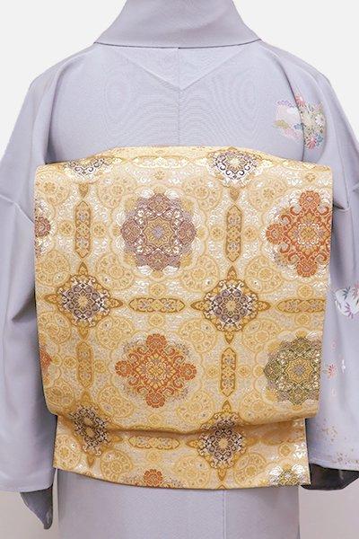 銀座【L-4258】袋帯 金色 華文
