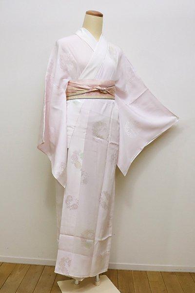 銀座【F-357】←ユッタリ→長襦袢 薄桜色 花の丸文