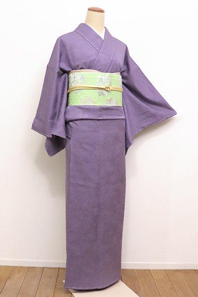 銀座【C-1535】←ユッタリ→繍一ッ紋 色無地 半色(しつけ付)