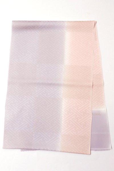 銀座【G-1142】京都 衿秀製 金糸市松 薄色と虹色 二色暈かし(新品)