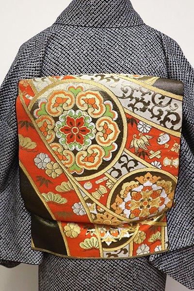 銀座【L-4291】袋帯 金色 熨斗に華文