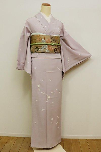 銀座【B-2086】↑Sサイズ↓訪問着 灰桜色 桜の図