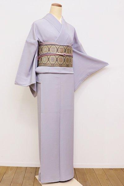 銀座【C-1545】繍一ッ紋 色無地 白菫色
