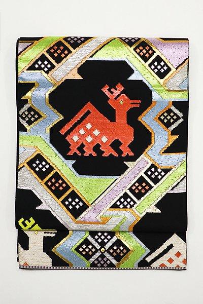 銀座【帯2918】龍村平蔵製 本袋帯 銘「有栖川鹿手」