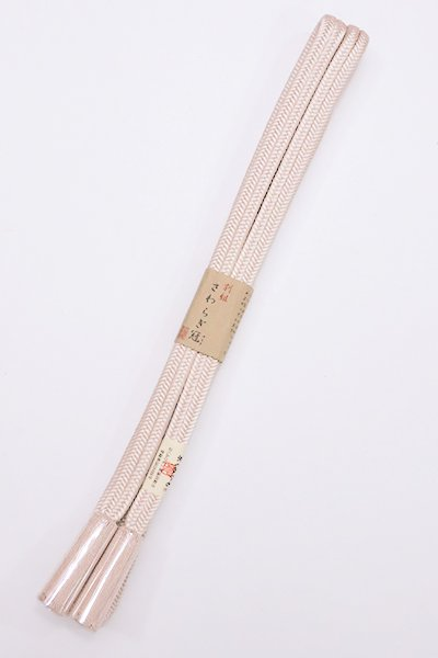 【S-761】京くみひも 正絹 帯締め 冠組 桜色(新品)