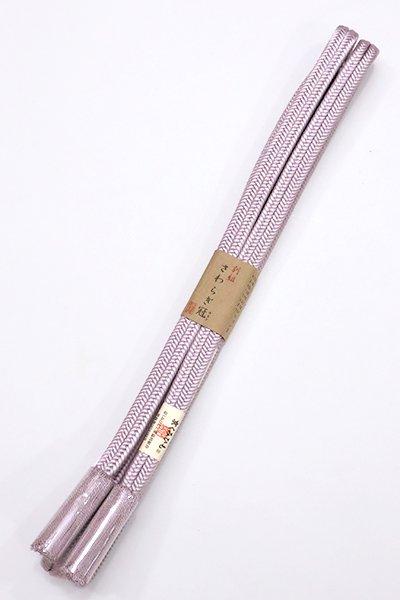 銀座【S-762】京くみひも 正絹 帯締め 冠組 白藤色(新品)