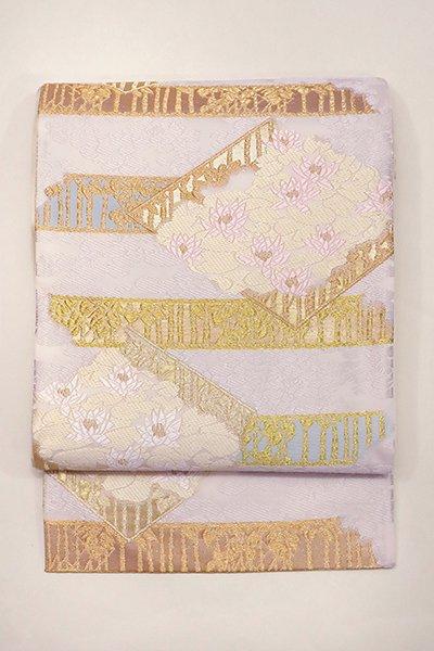 銀座【帯2938】西陣 山口美術織物製 袋帯「御印羊草文」