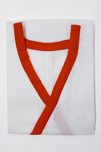 【G-1221】綿ガーゼ 肌襦袢 (赤)・L