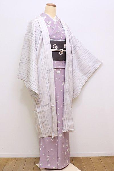 銀座【E-1009】羽織 素色 竹の図(しつけ付)(N)