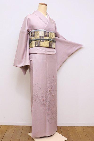 WEB限定【B-2136】スワトウ刺繍 訪問着 鴇鼠色 花唐草に華文