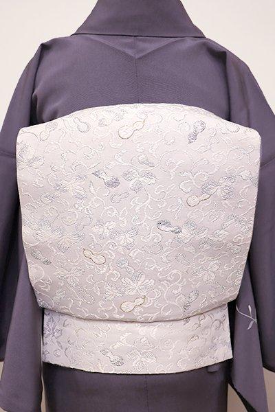 銀座【L-4381】袋帯 淡い紫水晶色 瓢箪唐草文