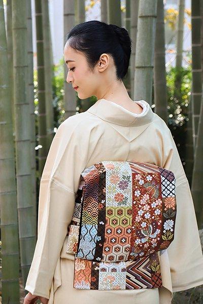 銀座【帯2951】西陣 河合美術織物製 袋帯