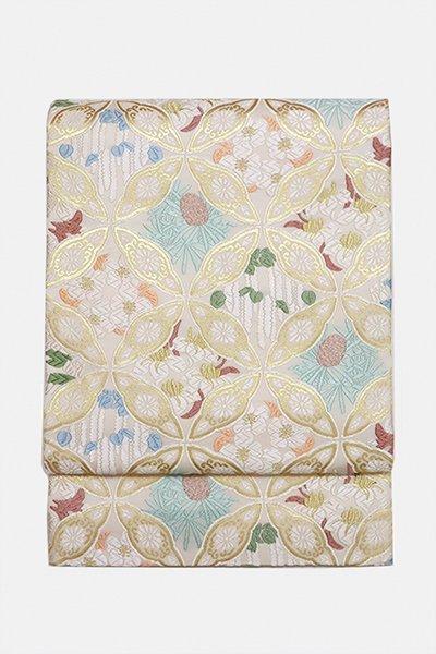 銀座【帯2953】西陣 山口美術織物製 袋帯「七宝御印文」(新品・付属品付)