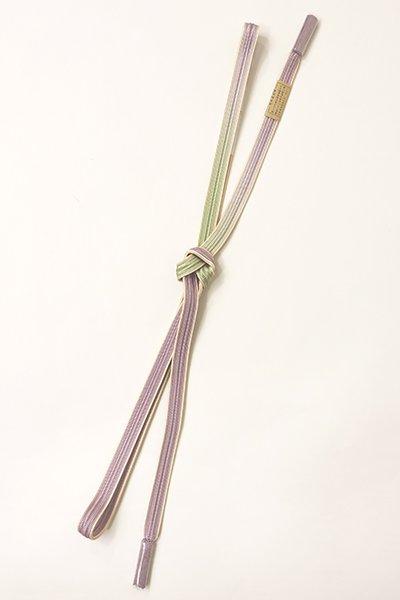 銀座【G-1244】京都衿秀 帯締め 畝打組 二色暈かし 藤色×柳色(新品)
