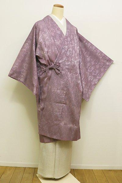 銀座【E-1024】紋紗 道中着 浅紫色 装飾花文