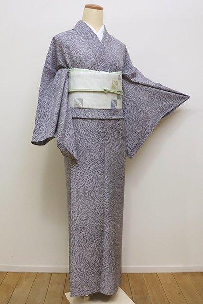 銀座【D-2190】単衣 小紋 淡い褐色 狢菊文