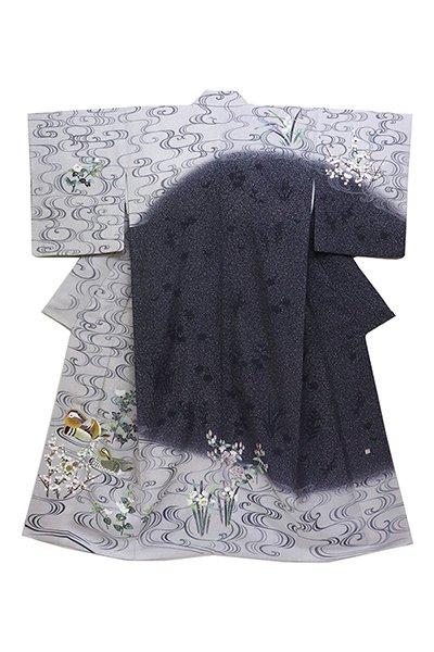 銀座【着物2423】TOKIO et TOKI 訪問着 流水に鴛鴦の図 (落款入)