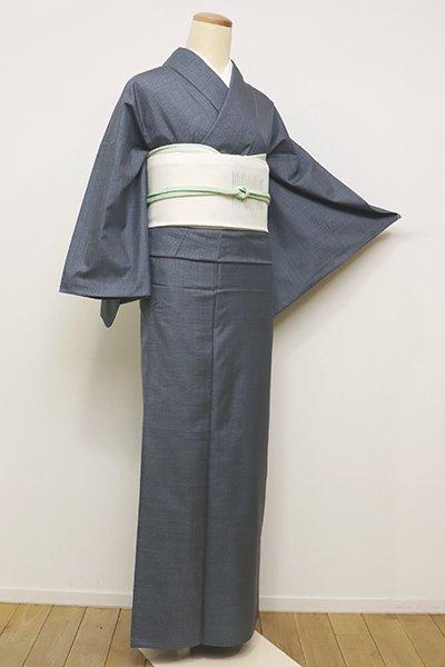 銀座【A-2789】↑Sサイズ↓←ユッタリ→単衣 大島紬 鉛色 亀甲絣
