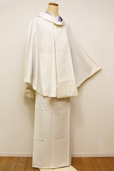 銀座【E-1037】京都 衿秀 二部式 雨コート 淡い鳥の子色 無地(手提げ袋付)(N)