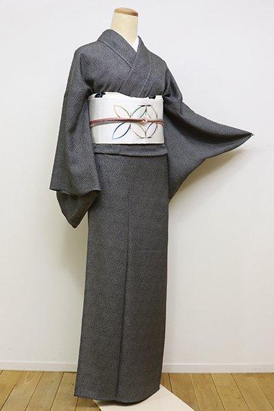 銀座【C-1614】単衣 江戸小紋 黒色 大小霰(しつけ付・新品)