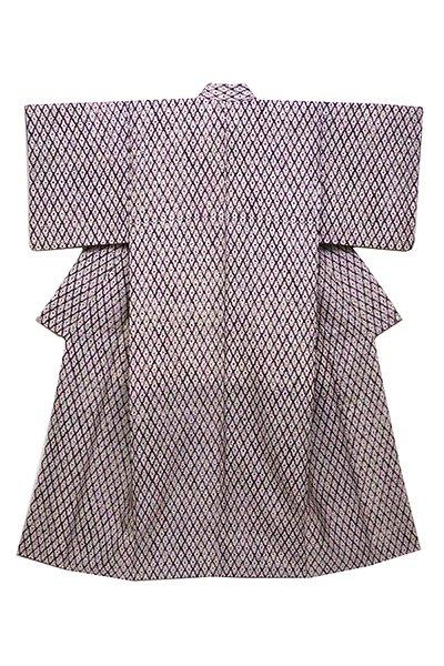 銀座【着物2447】草紫堂製 南部絞紫根染 着物