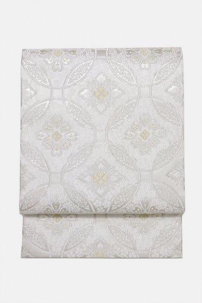 銀座【帯2990】西陣 洛陽織物製 袋帯「七宝花菱桜文」 (未使用・証紙付)