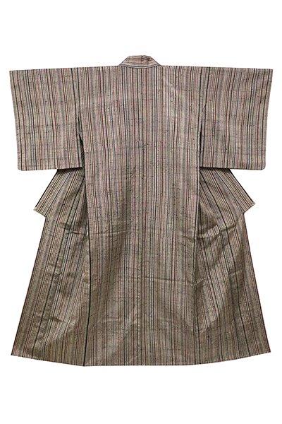 銀座【着物2451】ざざんざ織 単衣着物 縞
