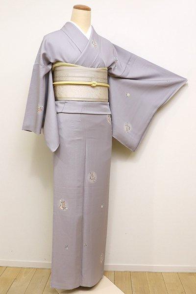 銀座【D-2218】↑Sサイズ↓単衣 小紋 深い霞色 桜文(高島屋扱い)