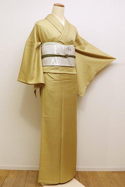 銀座【C-1622】(広め)単衣 染一ッ紋 江戸小紋 玉蜀黍色 鮫
