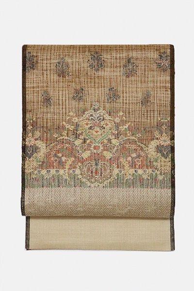 銀座【帯3005】西陣 渡文製 洒落袋帯「波衣」