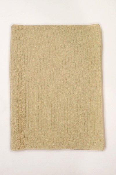 【R-226】正絹 絽縮緬無地帯揚げ 白茶色