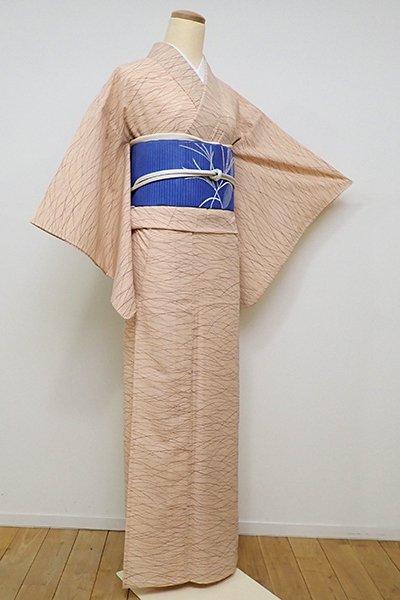 銀座【D-2226】(S)きもの英製 絽 小紋 雄黄色 芝文