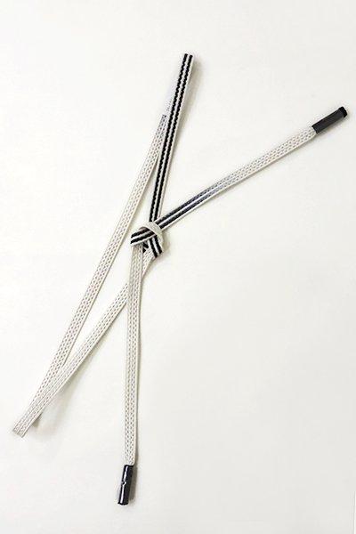 銀座【G-1014-2】京都 衿秀 帯締め レース組 暈かし 白色×羊羹色(新品)