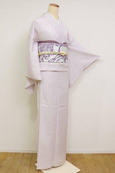 あおき【D-2231】絽 小紋 薄桜色 雪輪に兎文