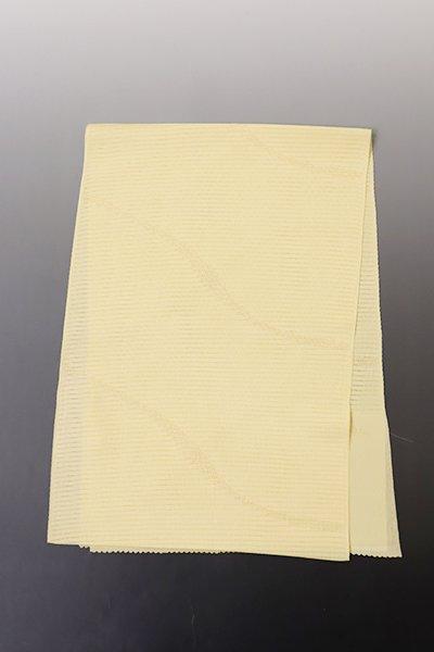 あおき【G-1263】京都 衿秀 絽 帯揚げ 砥粉色×金色 流線文様
