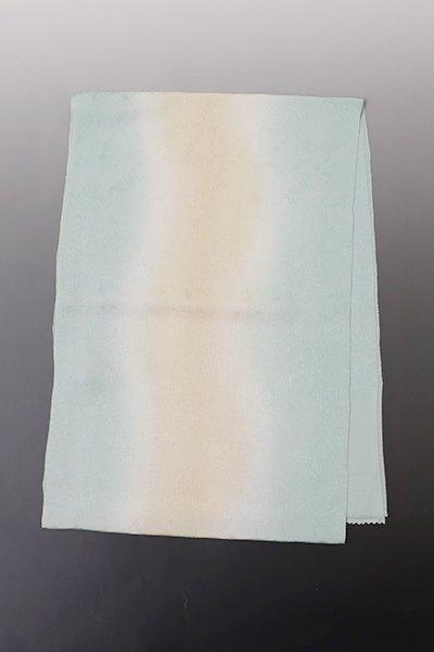 銀座【G-1271】京都衿秀 夏 帯揚げ 淡い白群色×浅黄色 流線暈かし