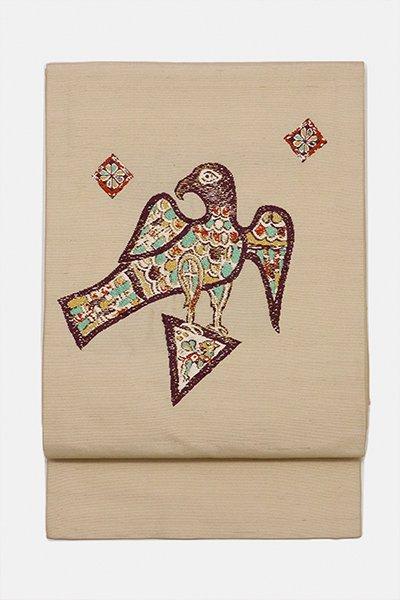銀座【帯3012】たつむら製 織名古屋帯 銘「聖鳥」